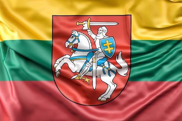 Flagge von litauen mit wappen