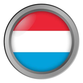 Flagge von luxemburg rund als knopf