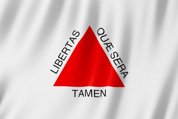Flagge von minas gerais staat in brasilien
