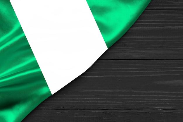 Flagge von nigeria kopienraum