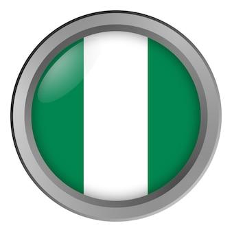 Flagge von nigeria rund als knopf