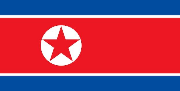 Flagge von nordkorea