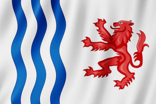 Flagge von nouvelle aquitaine, frankreich