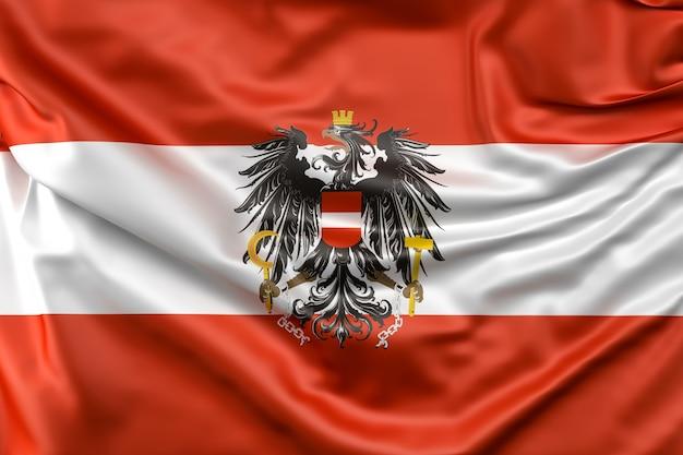 Flagge von österreich mit fähnrich
