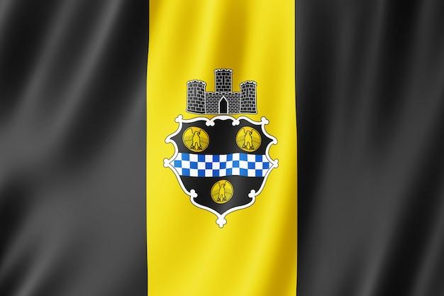 Flagge von pittsburgh, pennsylvania (usa)