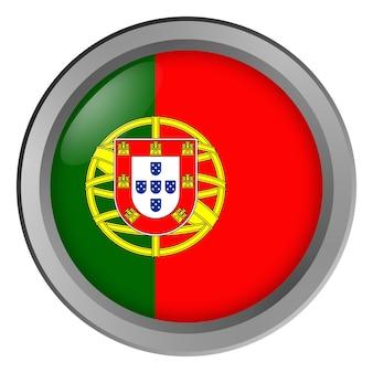 Flagge von portugal rund als knopf