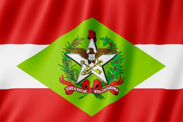 Flagge von santa catarina staat in brasilien