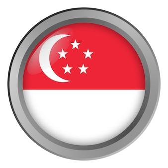Flagge von singapur rund als knopf