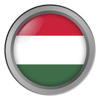Flagge von ungarn rund als knopf