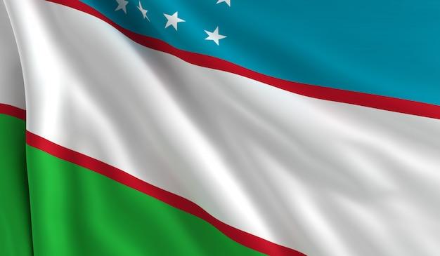 Flagge von usbekistan,