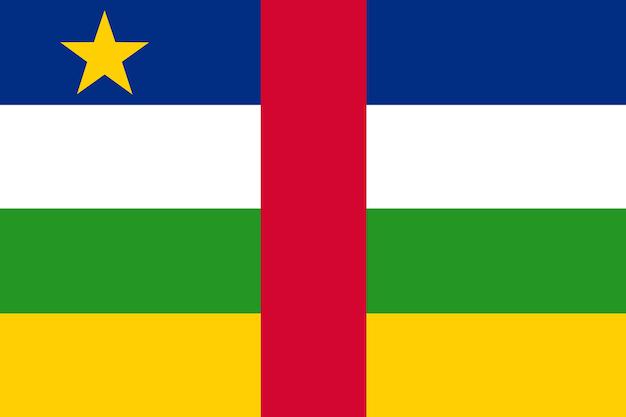 Flagge zentralafrikanische republik