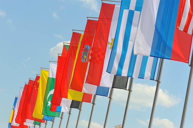 Flaggen auf wind