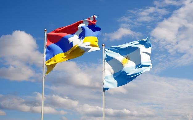 Flaggen von argentinien und artsakh