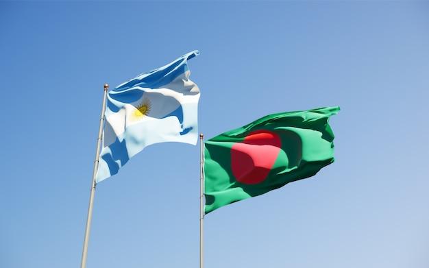 Flaggen von argentinien und bangladesch