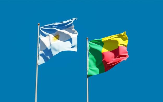 Flaggen von argentinien und benin.