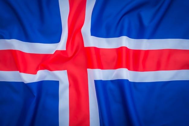 Flaggen von island.