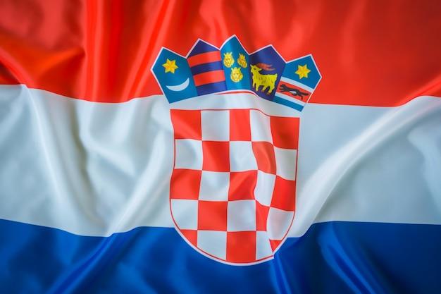 Flaggen von kroatien.