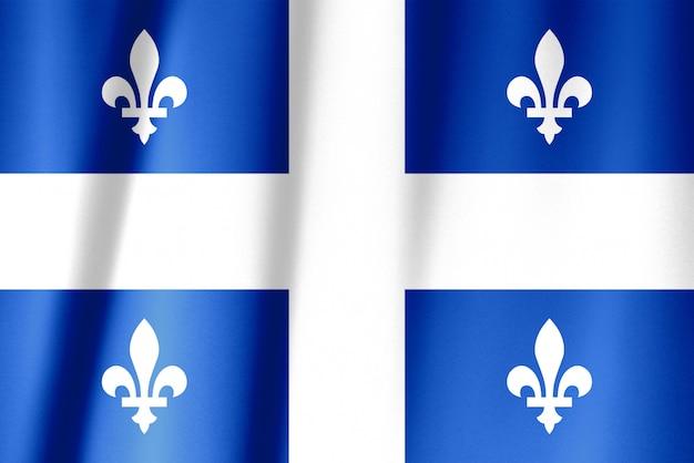 Flaggenserie der kanadischen provinzen - quebec
