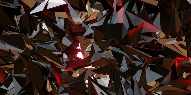 Flak hintergrund glasscherben moderne technologie abstrakte futuristische 3d-darstellung
