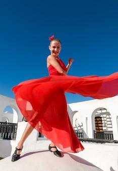 Flamenco-tänzer springen
