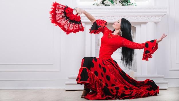 Flamencotänzer führen einen feurigen tanz auf