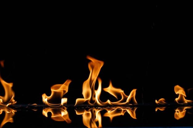 Flamme brennt heiß