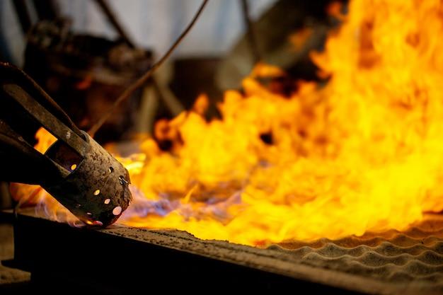 Flamme über ofen