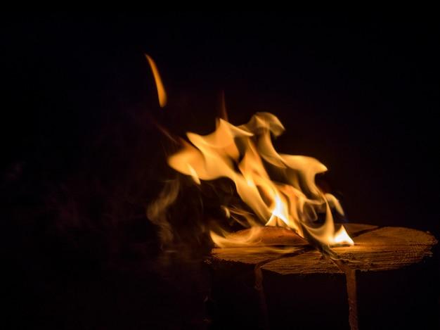 Flammender stumpf