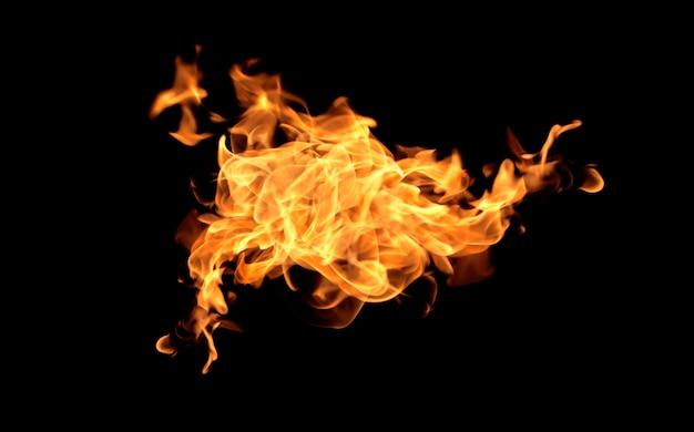 Flammenhitzefeuerzusammenfassungs-hintergrundschwarzhintergrund