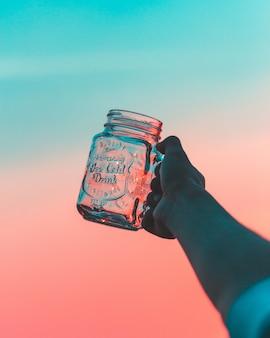 Flasche hand