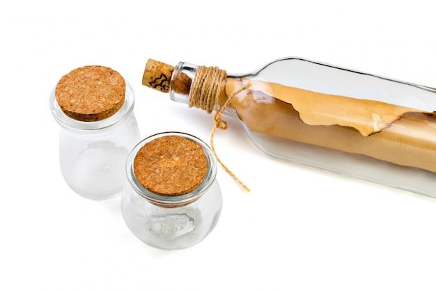 Flasche mit der meldung getrennt