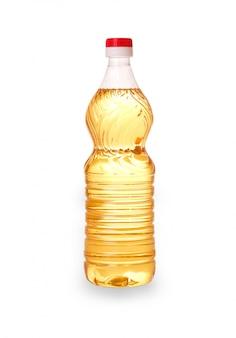 Flasche mit einer gelben sonnenblume
