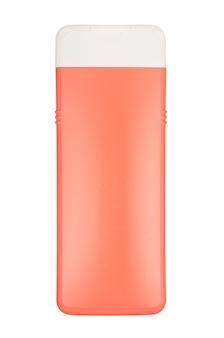 Flasche mit kosmetika lokalisiert auf weißem hintergrund. mit beschneidungspfad Premium Fotos