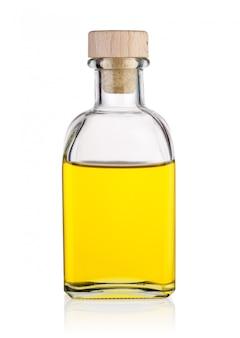 Flasche sonnenblumen-, oliven- oder erdnussöl
