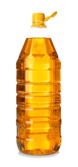 Flasche speiseöl, isoliert auf weiß