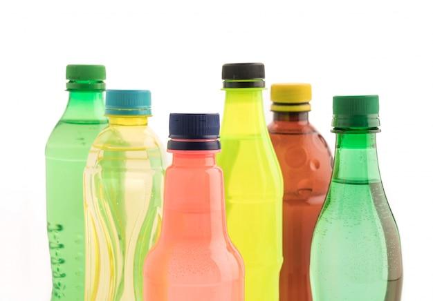 Flaschen mit erfrischungsgetränk