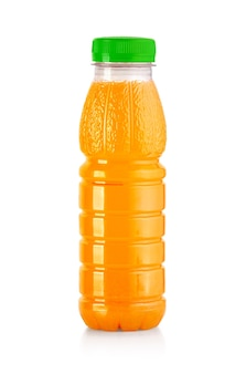 Flaschen mit saft isoliert auf weiss mit beschneidungspfad