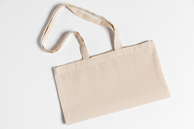 Flat lay copy space stoff handtasche