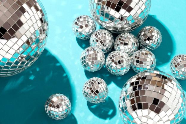Flat lay disco globen anordnung