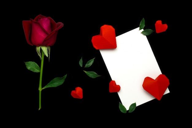 Flat lay valentinstag konzept