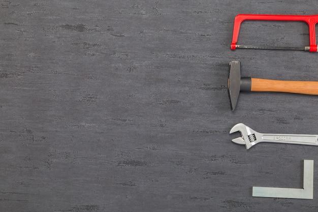 Flat lay zusammensetzung von werkzeugen