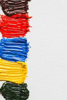 Flecken aus dicken farben