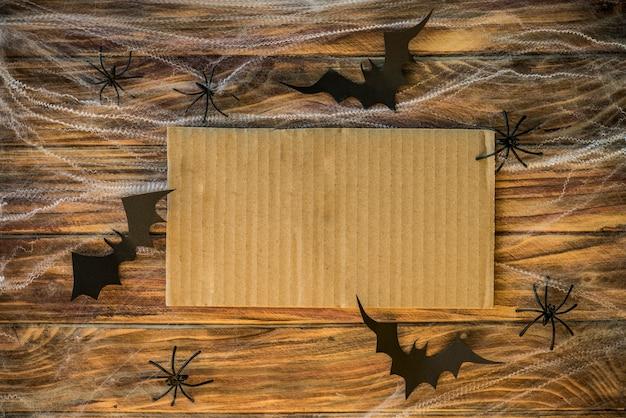 Fledermäuse und spinnen im spinngewebe