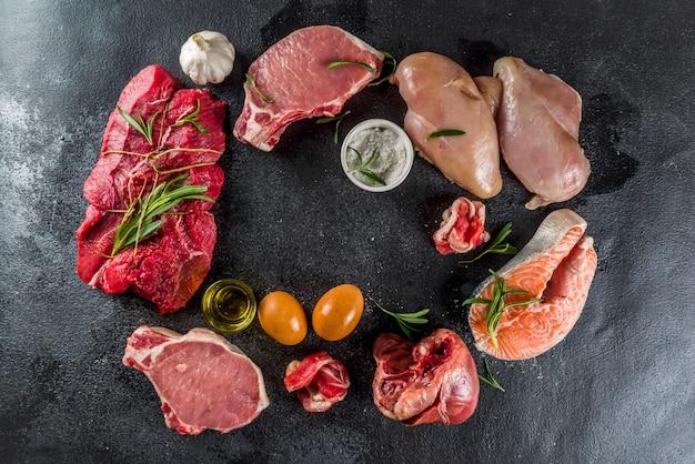 Fleisch fressender proteindiäthintergrund