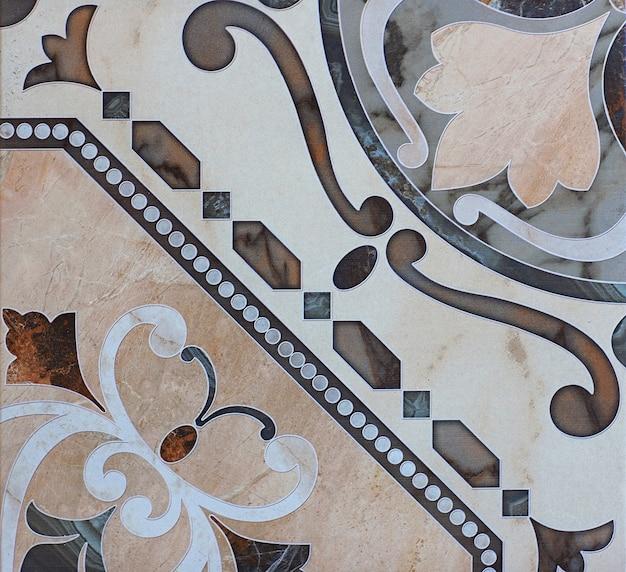 Fliese mit abstraktem muster