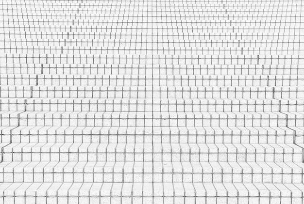 Fliese treppen in schwarz-weiß-ton