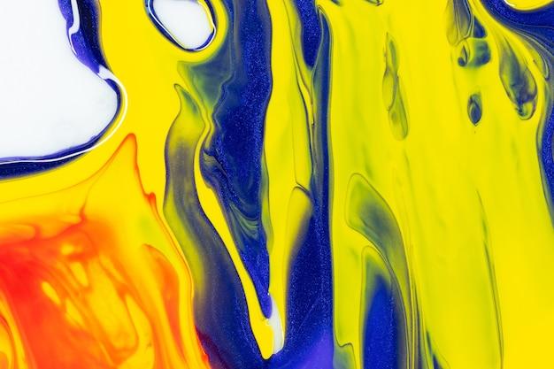 Fließender farbhintergrund, flüssige acrylmalereibeschaffenheit