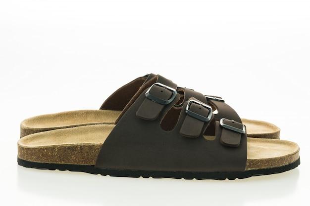 Flip-flop-pantoffel reise-schuhe getragen