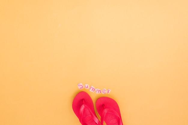 Flip flops und sommerwort