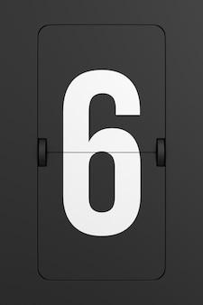 Flip schwarze anzeigetafel nummer. 3d-rendering